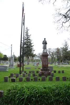 Civil War Memorial at South Side Cemetery