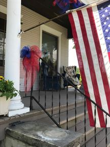 Yost House with Flag