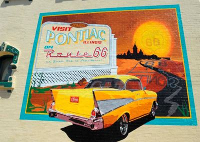 A Route 66 Mural on Main Street