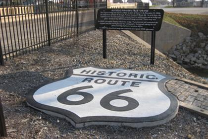 Route 66 Attraction Marker