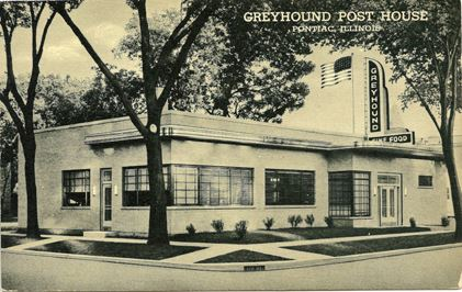 Greyhound Bus Post Station - 1950s