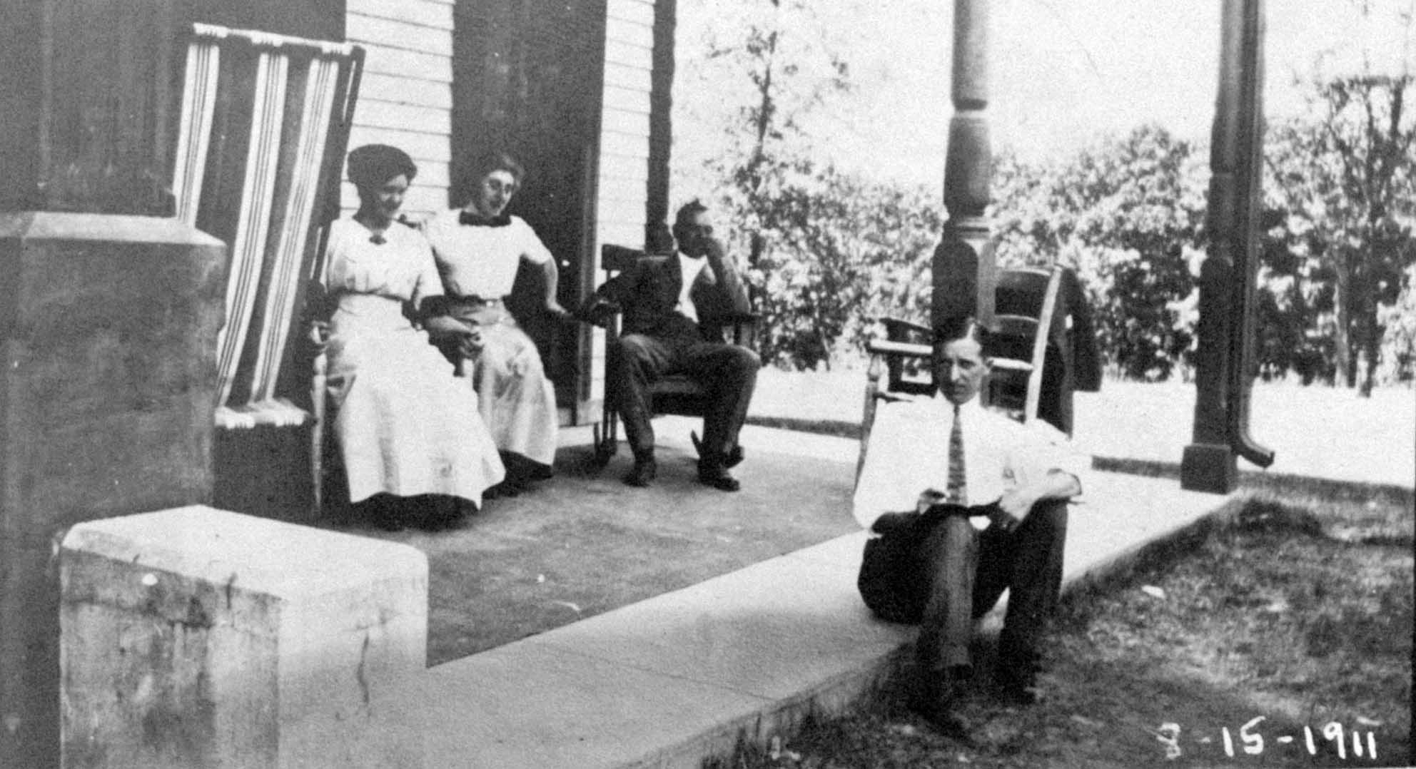 People sitting on porch