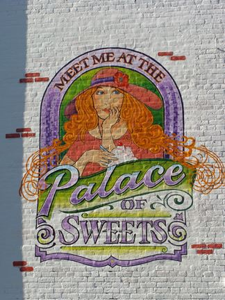 A mural of the Palace of Sweets